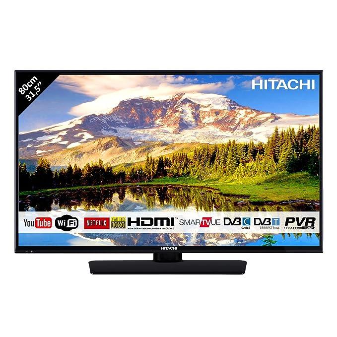"""28 opinioni per HITACHI 32HB4T62 32"""" FULL HD Smart TV Wi-Fi LED TV DVBT2/C/S2, Nero"""