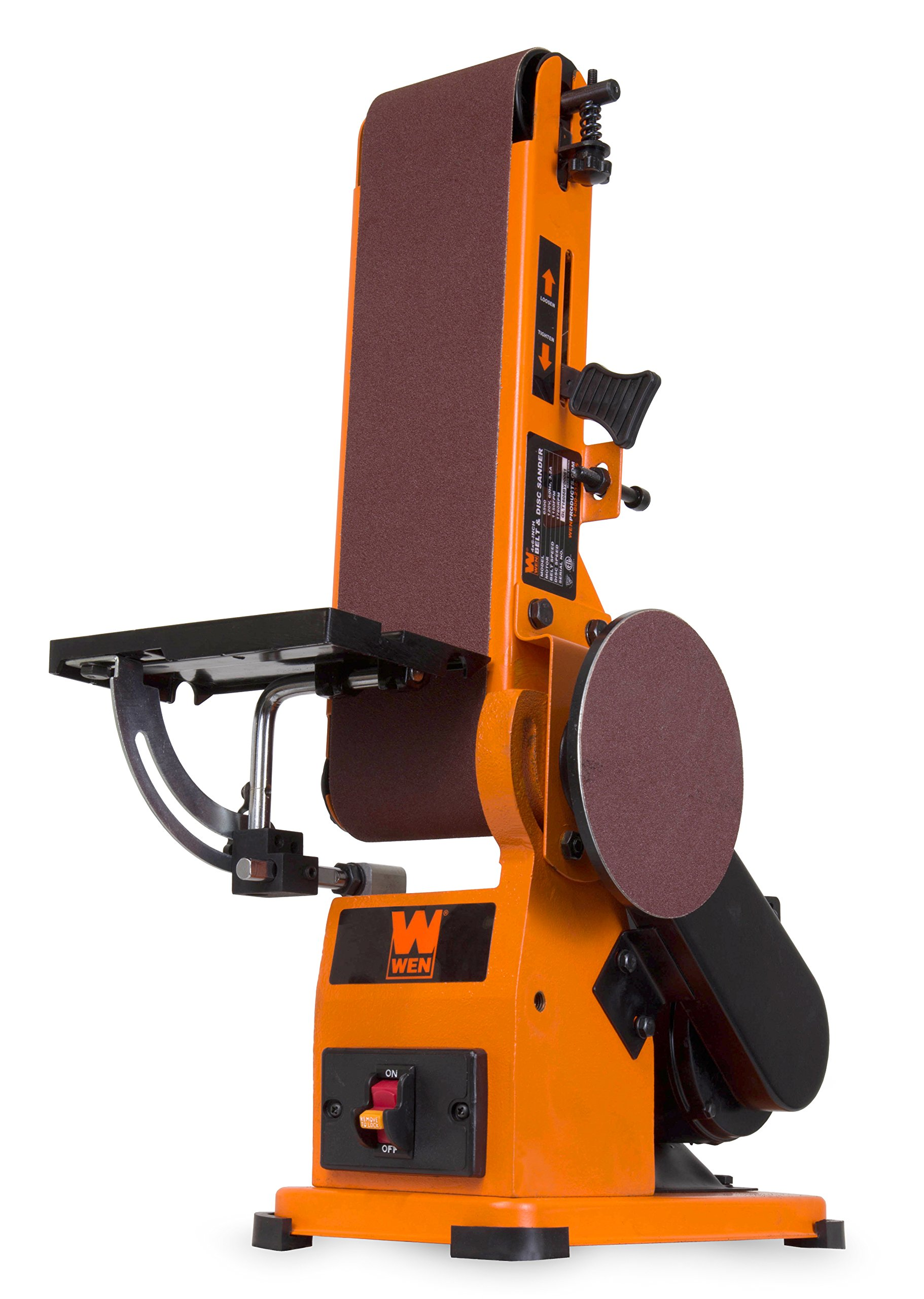 WEN 6500 4 x 36-Inch Belt and 6-Inch Disc Sander with Steel Base by WEN (Image #5)
