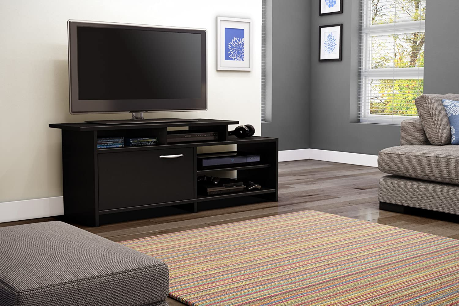 "Amazon.com: Step One - TV Stand - Fits TVs Up To 42"" - Pure Black ..."