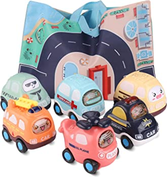 EARCASE Interactive Child-safe Pull Back Vehicles