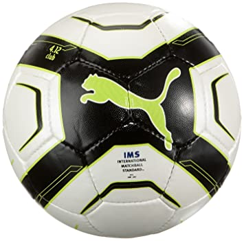 Puma - Balón de fútbol, tamaño 4 UK, Color Blanco - Negro - Lima ...