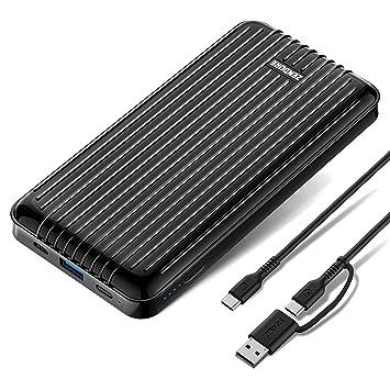Zendure A6PD 20100mAh Batería Externa, Cargador Portátil con USB-C Power Delivery 2.0 y Quick Charge 3.0 para iPhone, iPad, Huawei y Otros (Negro)