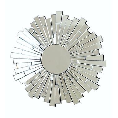 Abbyson London Round Wall Mirror, Silver
