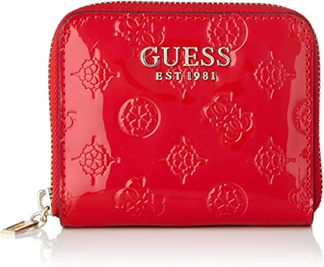 Guess Portemonnaie Peony Shine Small poppy