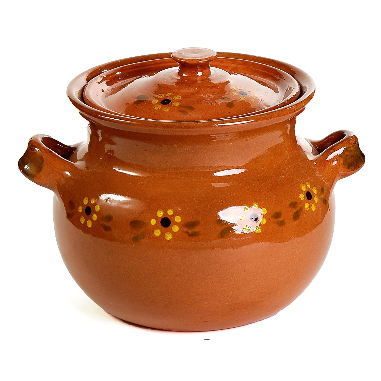 Mexican Traditional Clay Bean Pot - Terracotta
