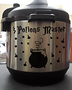 Potions Master Wizard Cauldron Black Vinyl Decal Sticker for Pressure Cooker