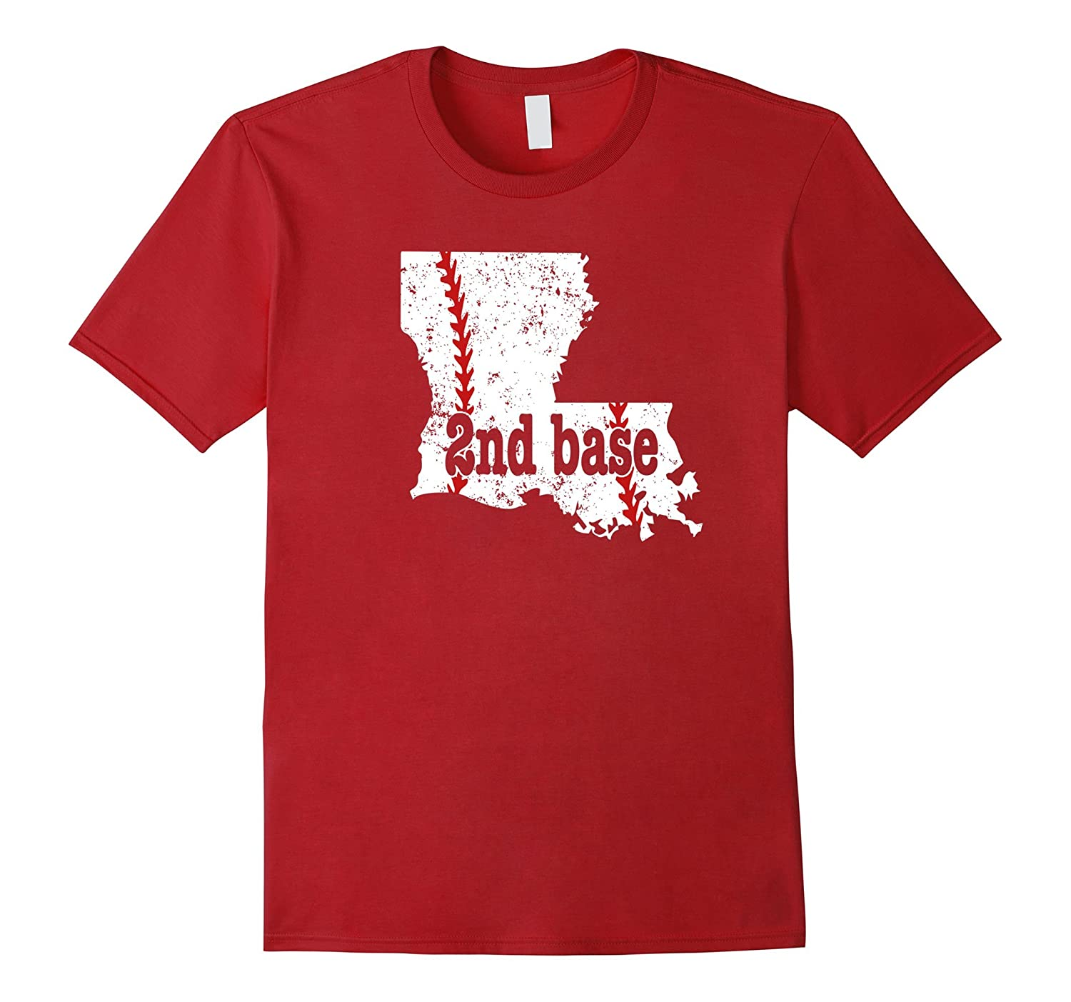 2nd Base Softball Shirt Louisiana 2nd Base Baseball Shirt-FL