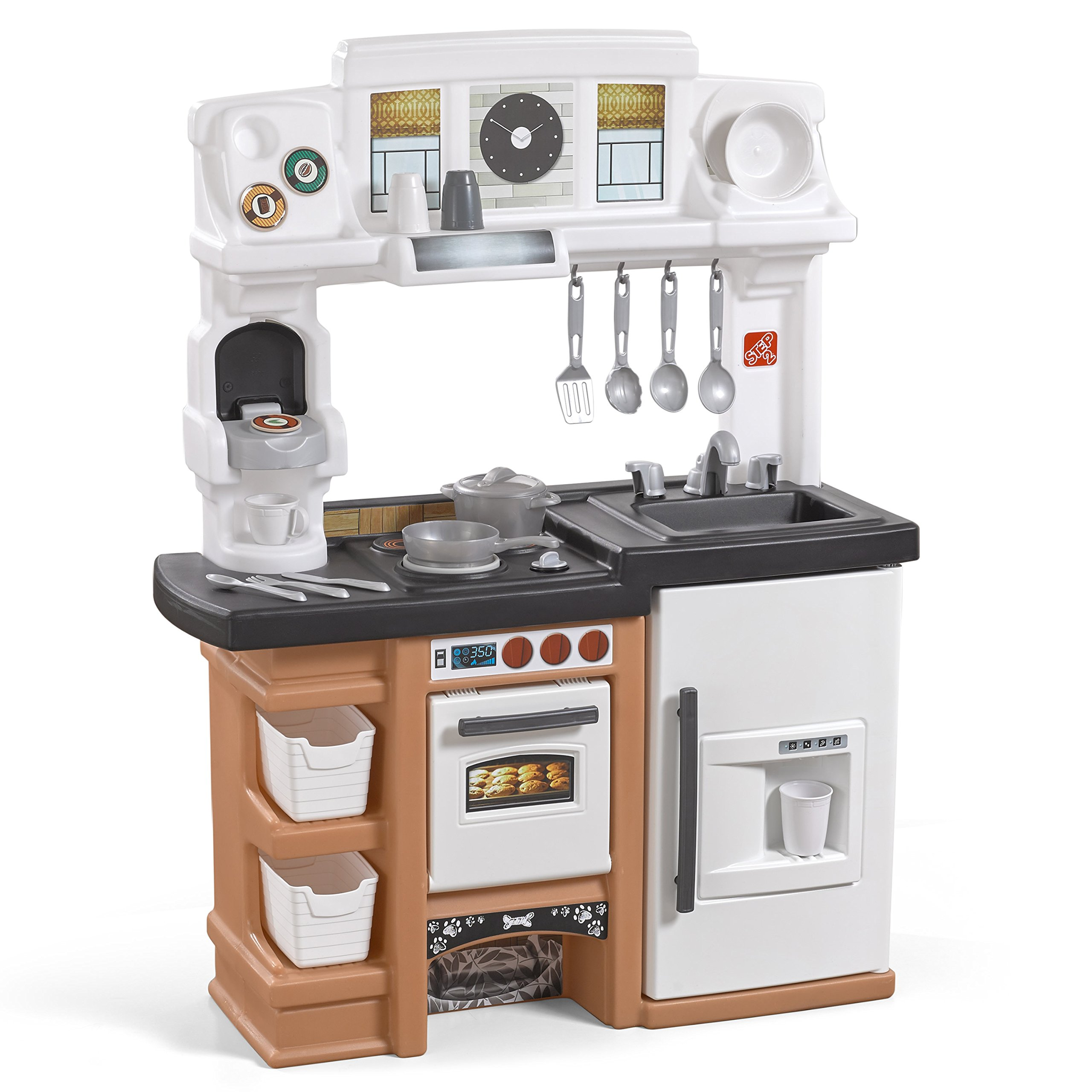 Step2 899399 Espresso Bar Play Kitchen for Kids, Tan by Step2