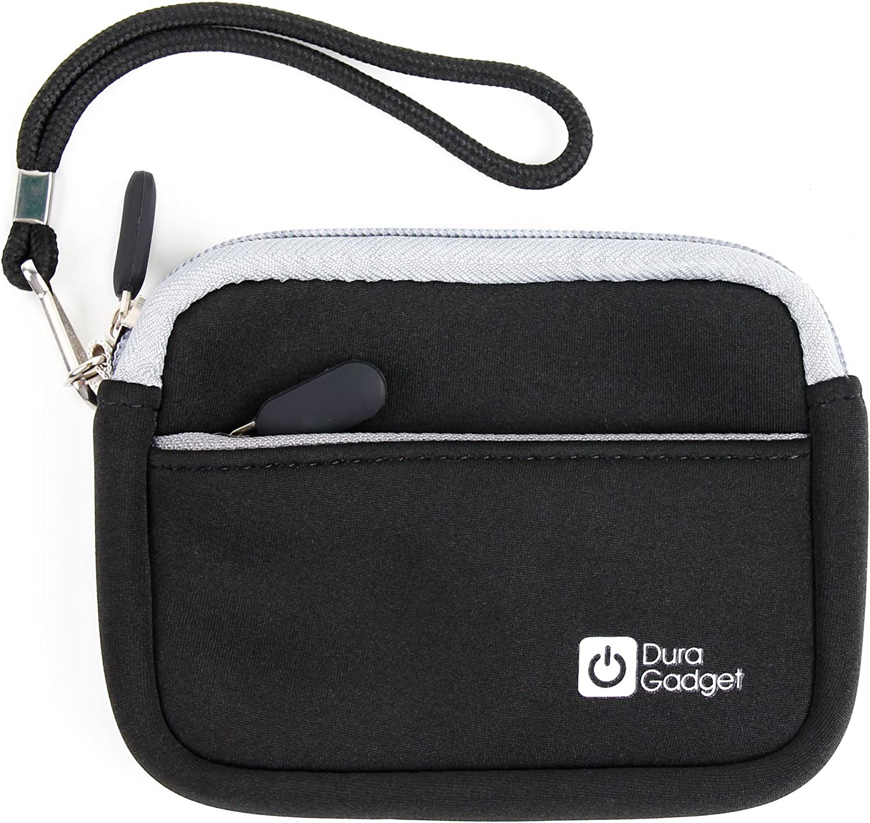 DURAGADGET Black Compact Camera Case with Secure Zip Closure for Sony DSC-WX50 DSC-W690 DSC-TX20