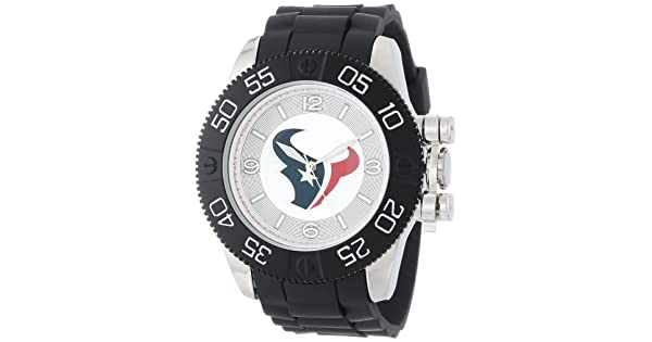 1bb702e5565 Game Time Men's 'Beast' Quartz Metal and Polyurethane Casual Watch,  Color:Black (Model: NFL-BEA-HOU)