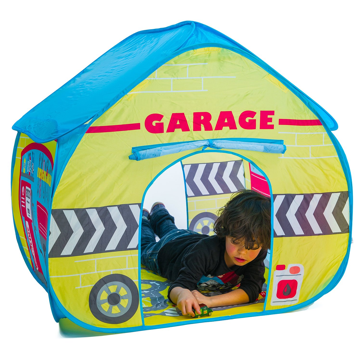 Amazon.com Fun2Give Pop-It-Up Garage Tent with Road Playmat Playhouse Toys u0026 Games  sc 1 st  Amazon.com & Amazon.com: Fun2Give Pop-It-Up Garage Tent with Road Playmat ...