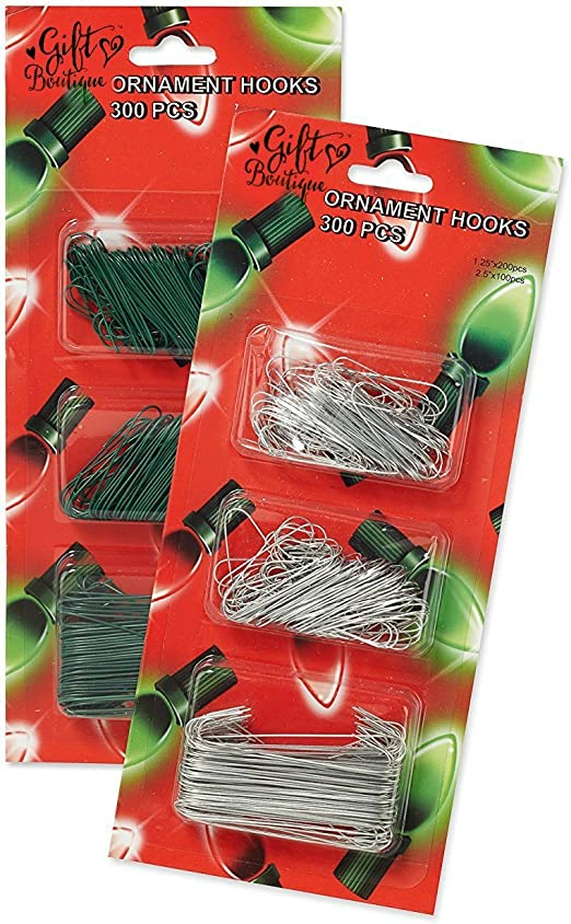 600 Pieces Ornament Hanging Hooks Christmas Tree Ornament Hooks Metal Wire Ornament Hangers for Holiday Decorations