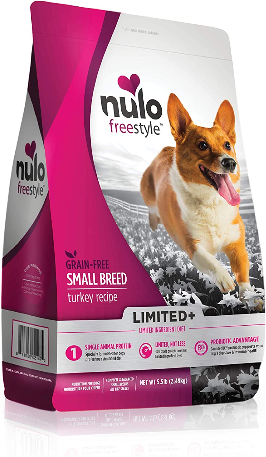 Nulo Limited Ingredient Small Breed Dry Dog Food - Single Protein Grain Free Recipe Premium Kibble