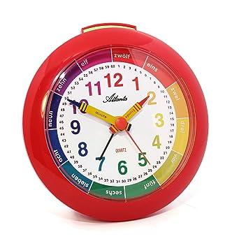 Wecker Für Kinder Lernwecker Rot   Atlanta 1265 1