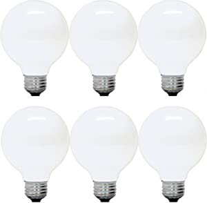 GE Lighting 12979 40-Watt G25 Incandescent Globe Light Bulb, Soft White, 6-Pack