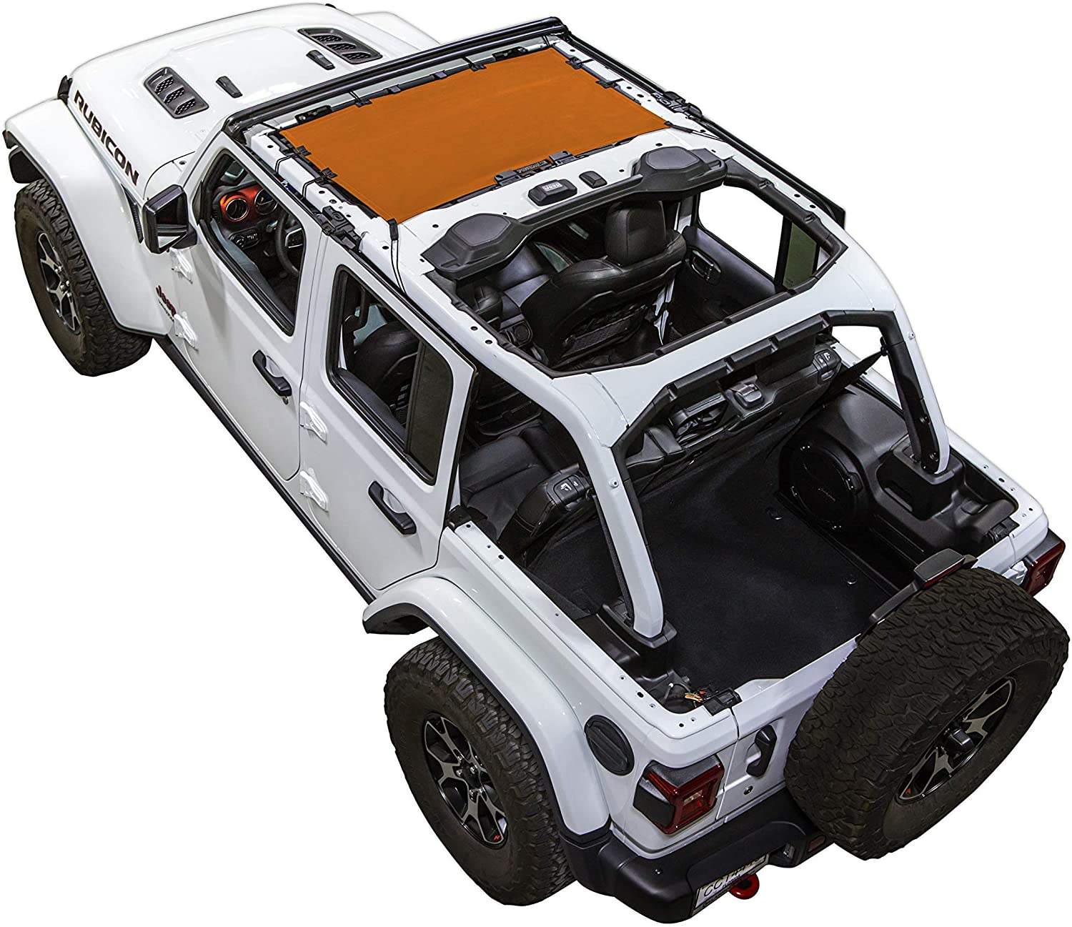 2018 - current in Green SPIDERWEBSHADE Jeep Wrangler JLKini Mesh Shade Top Sunshade UV Protection Accessory USA Made with 5 Year Warranty for Your JL 2-Door and JLU 4-Door