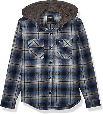 RVCA Camisa de franela con capucha para niños - Azul - Large ...