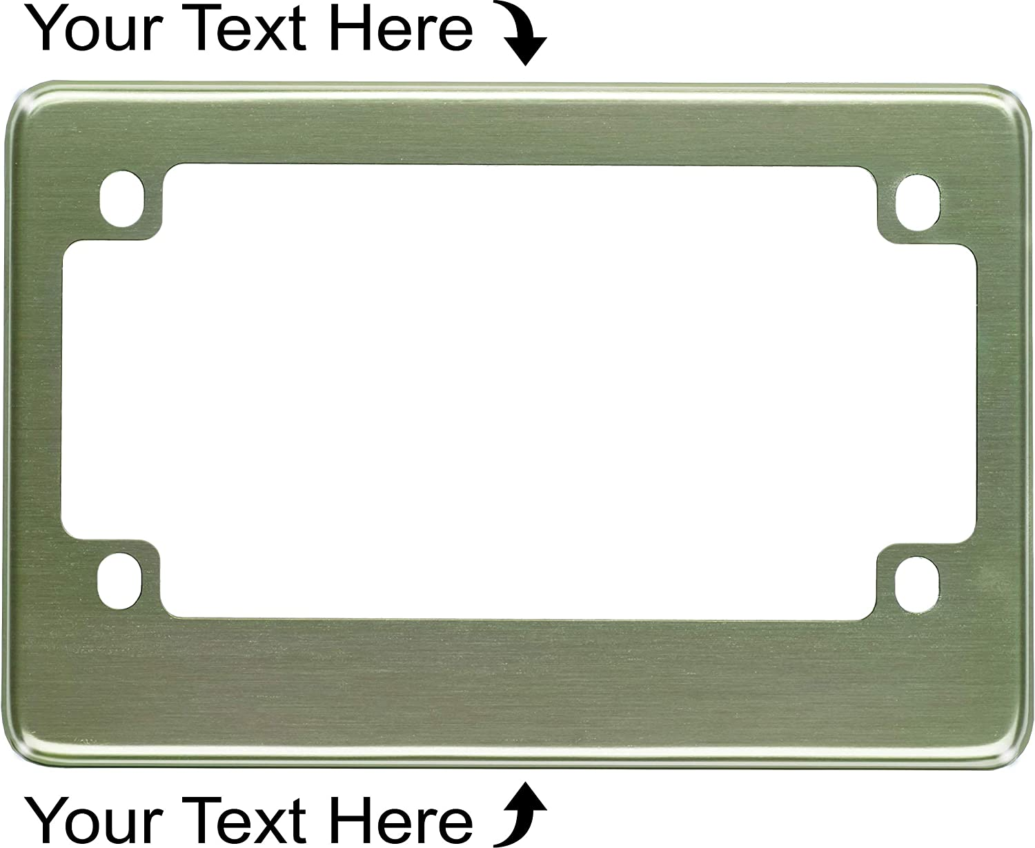 Zombies design your own custom personalized license plate frame holder tag
