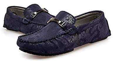 a9212e66da8 HuoGuo Men s Comfort Casual Round Toe Driving Cars Moccasin-Gommino Slip On  Flats Penny Loafers