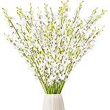 CEWOR 15 orquídeas artificiales de seda, orquídeas blancas falsas, orquídeas, tallos para boda, hogar, oficina, fiesta…