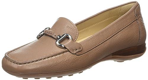 Geox Donna Euxo, Mocasines para Mujer, Marrón (DK Beige C5005), 42 EU: Amazon.es: Zapatos y complementos