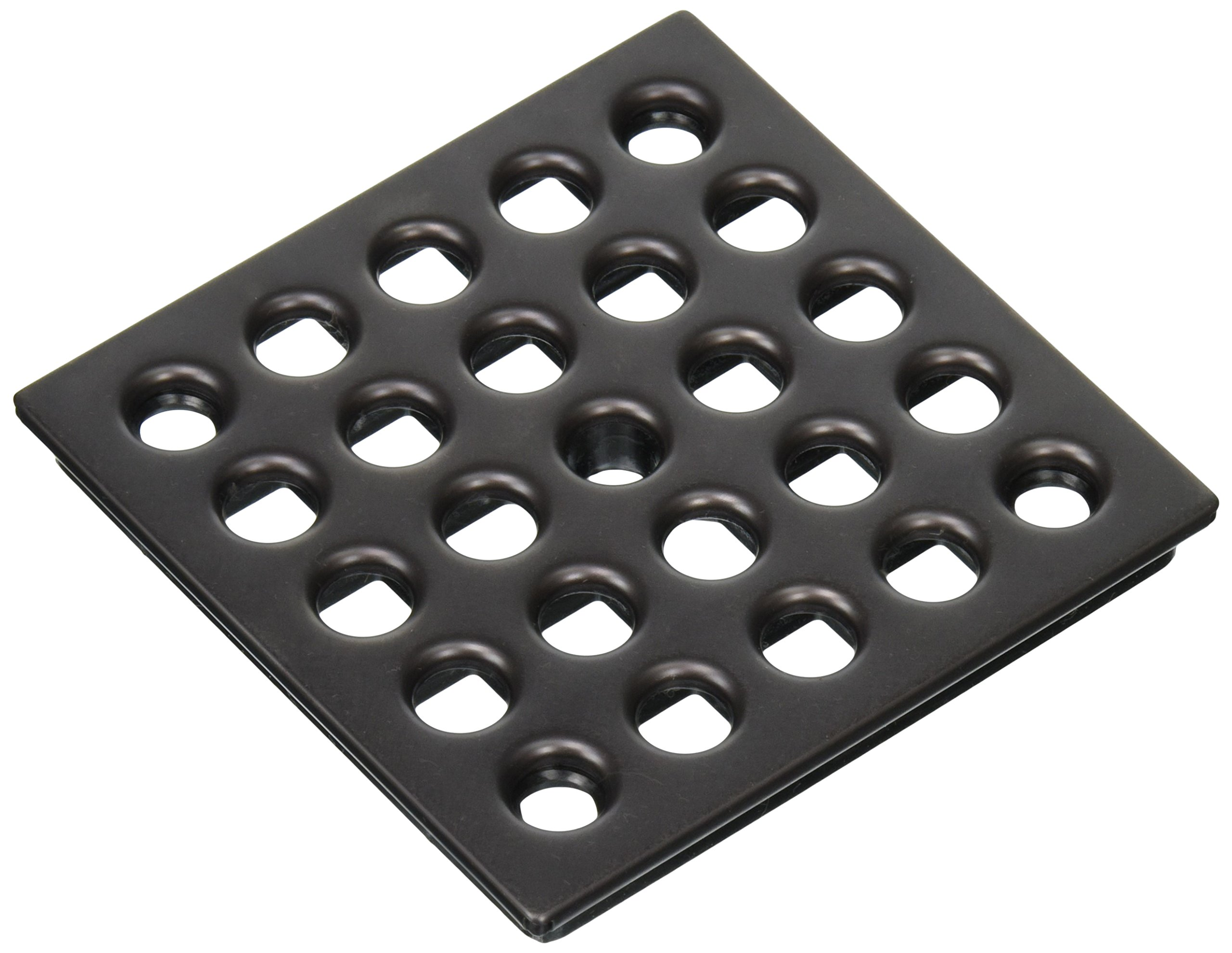 Ebbe E4407 Square Shower Drain Grate, Oil Rubbed Bronze