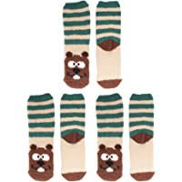 Women's Super Soft Warm Microfiber Fuzzy Cozy Animal Socks, 3 Pairs Value Pack