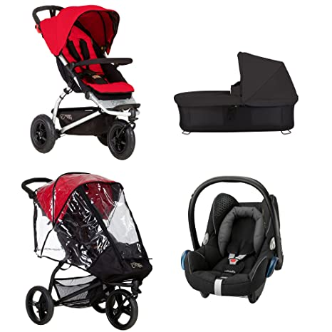 Mountain Buggy swift Berry cochecito, carrito, color negro, Storm,, adaptador de