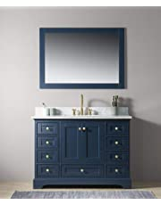UrbanFurnishing.net   Jocelyn Bathroom Sink Vanity Set With White Italian  Carrara Marble Top