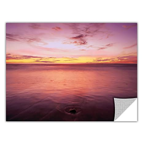 18 by 24-Inch ArtWall  Art Appealz Dean Uhlinger Ponto Beach Twilight Removable Graphic Wall Art