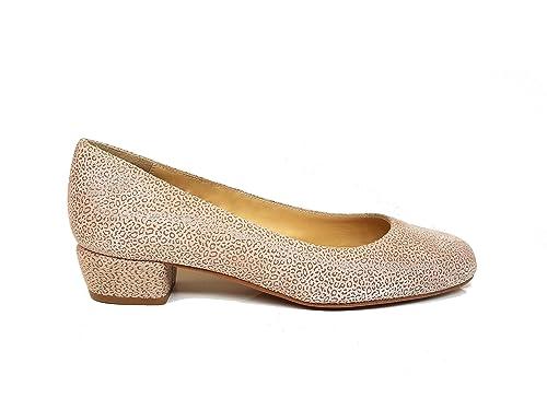 2fec4498140 Bailarinas de Piel para Mujer con Punta Cerrada Redonda y Tacon Bajo 3 cm:  Amazon.es: Zapatos y complementos