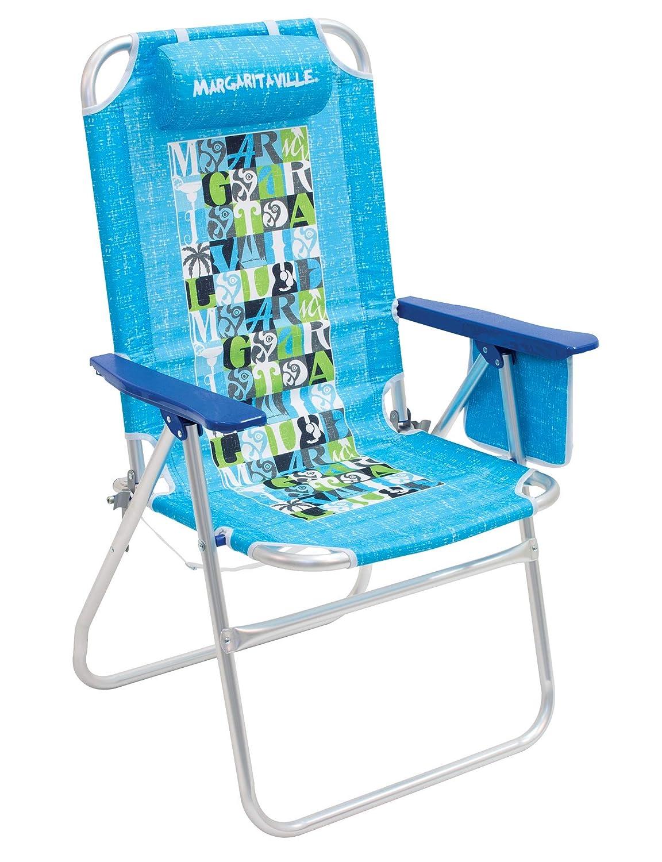 Margaritaville Big Shot High and Wide Folding Beach Chair