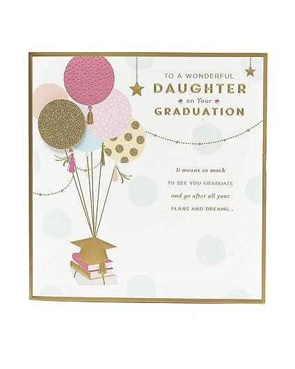Tarjeta de graduación, tarjeta de hija, regalo para ella ...