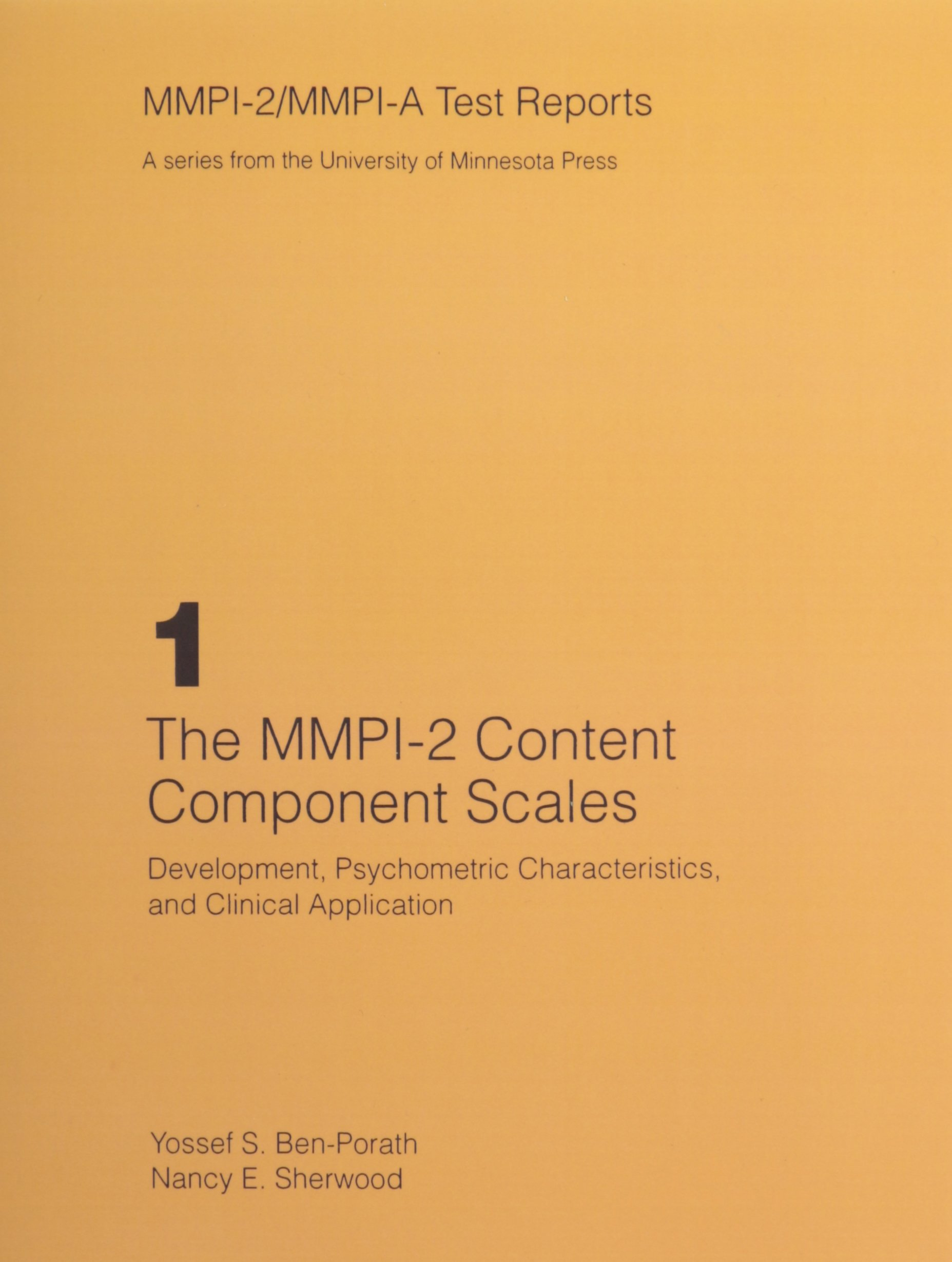 The mmpi 2 content component scales development psychometric the mmpi 2 content component scales development psychometric characteristics and clinical application mmpi 2mmpi a test reports yossef s ben porath fandeluxe Image collections