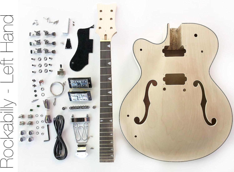 Kit de guitarra eléctrica DIY – cuerpo hueco para construir su ...