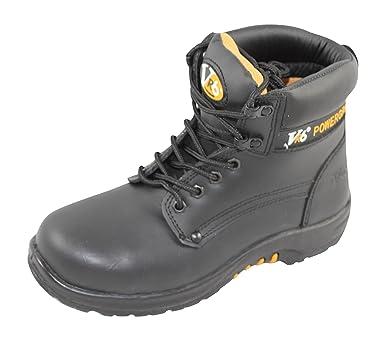 V-Tech V600 Bison Mens Safety Boots In Black . (UK 4)