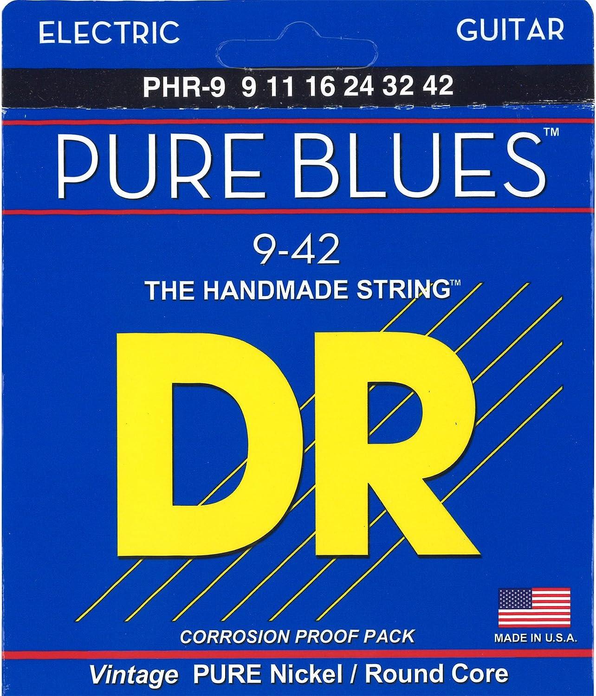 DR String PHR-9 Pure Blues Juego Cuerdas Eléctrica