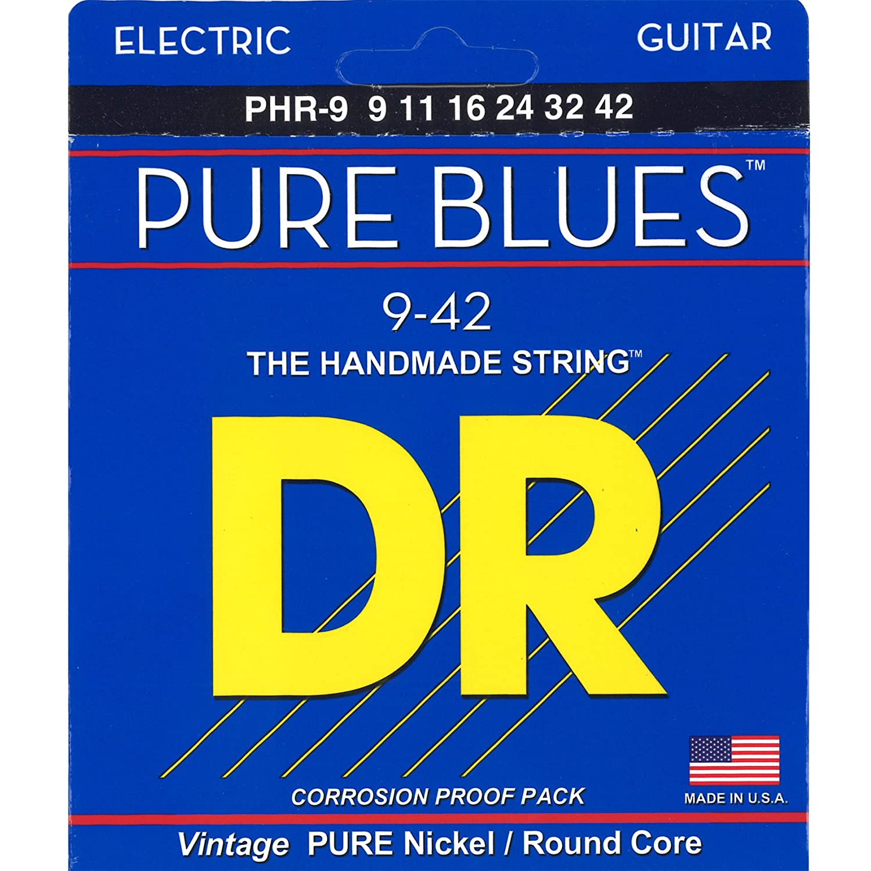 DR PURE BLUES PHR-9 Pure Nickel Electric Strings, Lite: Amazon.es: Instrumentos musicales
