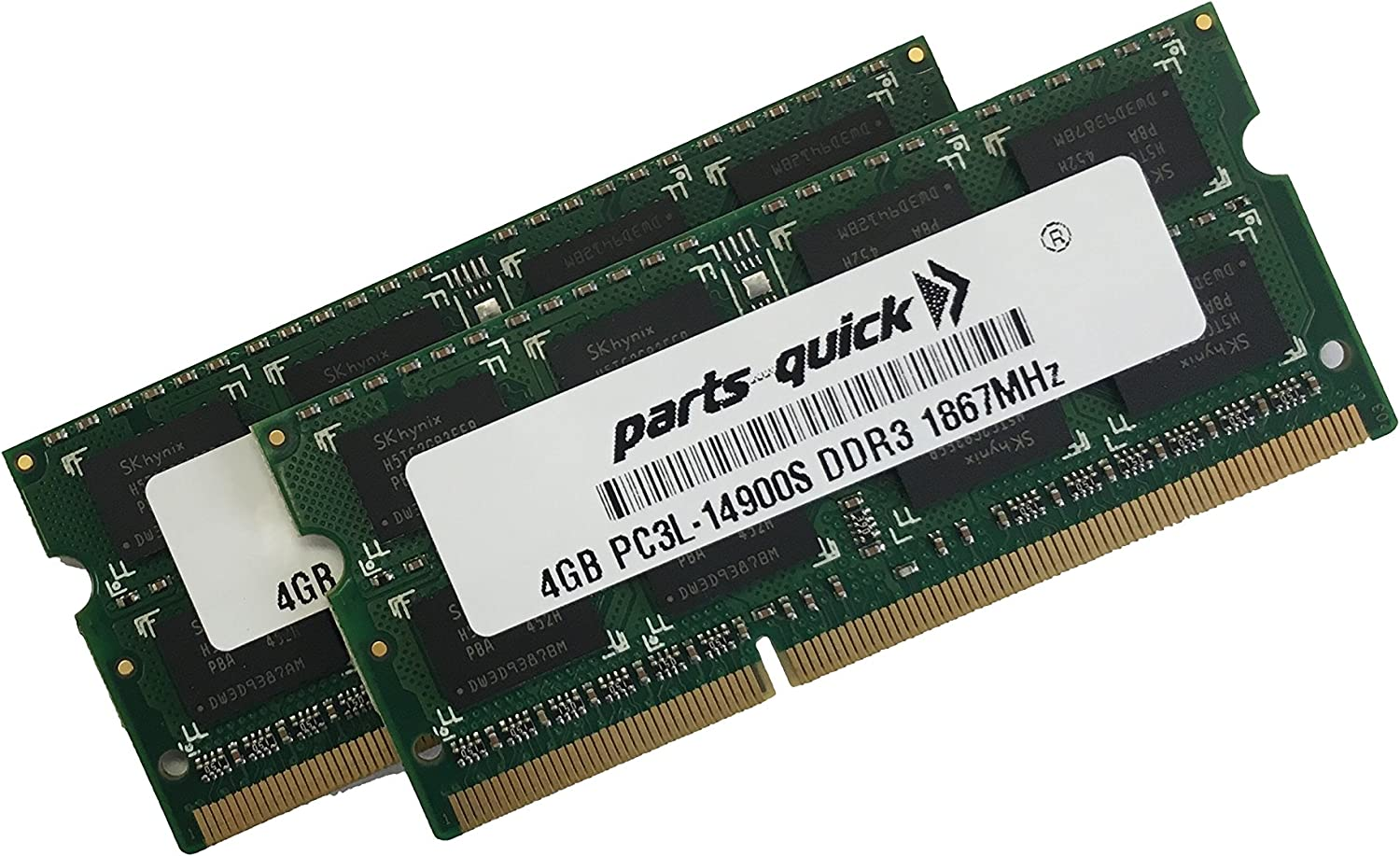 8GB (2 X 4GB) Kit Memory for Apple iMac Late 2015 27-inch 1867MHz DDR3 SO-DIMM (PARTS-QUICK Brand)