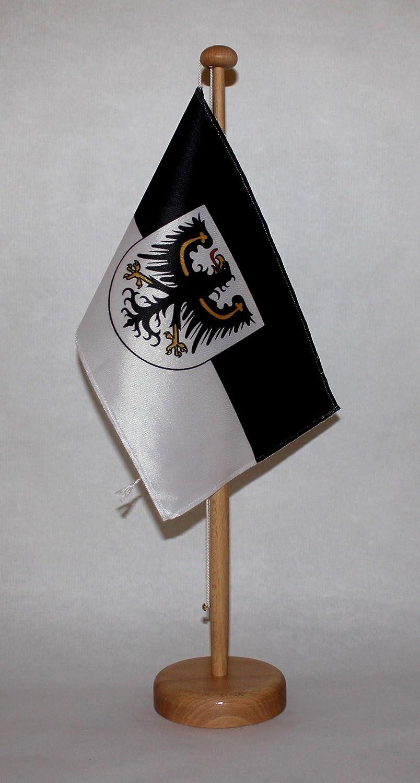wahlweise mit oder ohne 42 cm Massivholz Tischst/änder Buddel-Bini Deutschland Tischflagge 15x25 cm in Profiqualit/ät