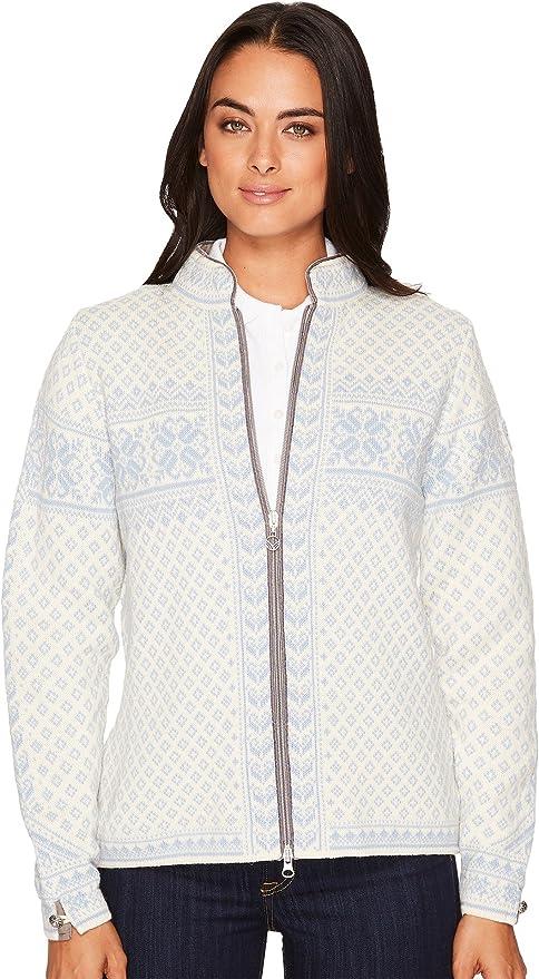 Dale of Norway Sunniva femenina Jacket, mujer, Sunniva feminine jacket, Offwhite/iceblue, extra-large amazon el-blanco