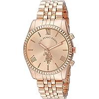 U.S. Polo Assn. USC40060 Reloj de cuarzo para mujer analógico Oro Rosa