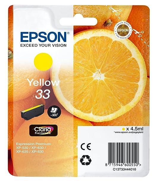 22 opinioni per Epson 33 Serie Arancia Cartuccia Originale, Standard, Giallo