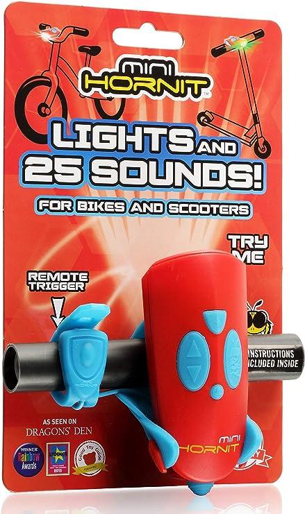 Black Hornit Mini Hornit Blye Fun Horn And Light Gift For Kids Bike  Scooters