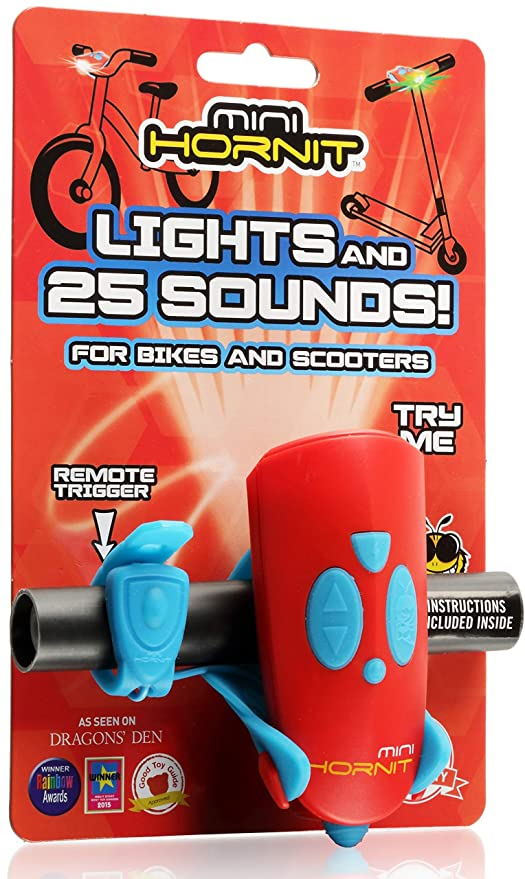 Bike Scooter Lights Sound Effects Black NEW! MINI HORNIT Bicycle Horn