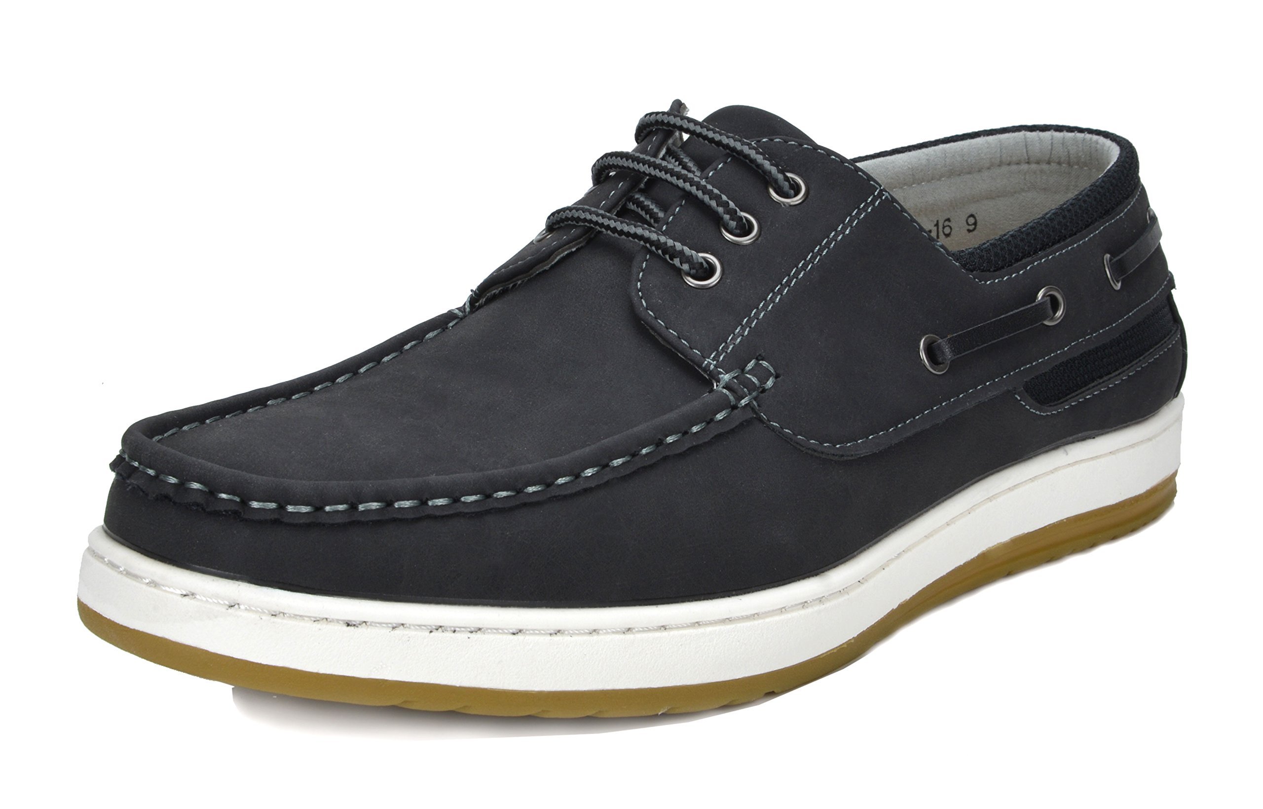 Bruno Marc Men's Pitts_16 BLK/BLK Oxfords Moccasins Boat Shoes Size 09.5 by Bruno Marc (Image #1)