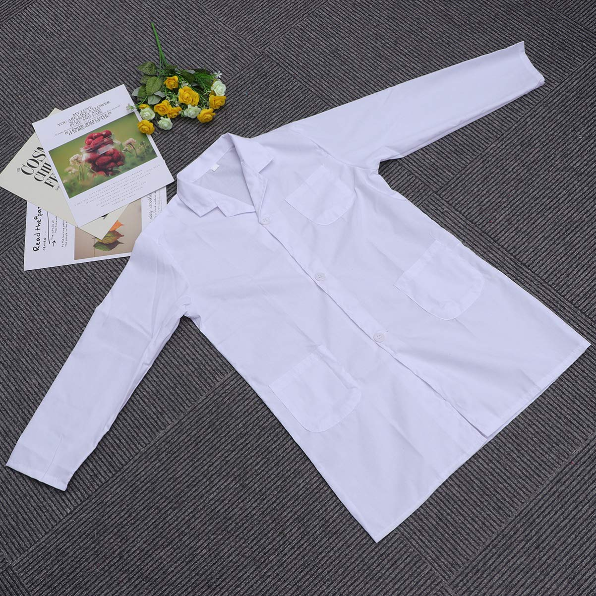 Small Size NUOBESTY Kids Lab Coat Unisex Doctor for Dress Up Costume