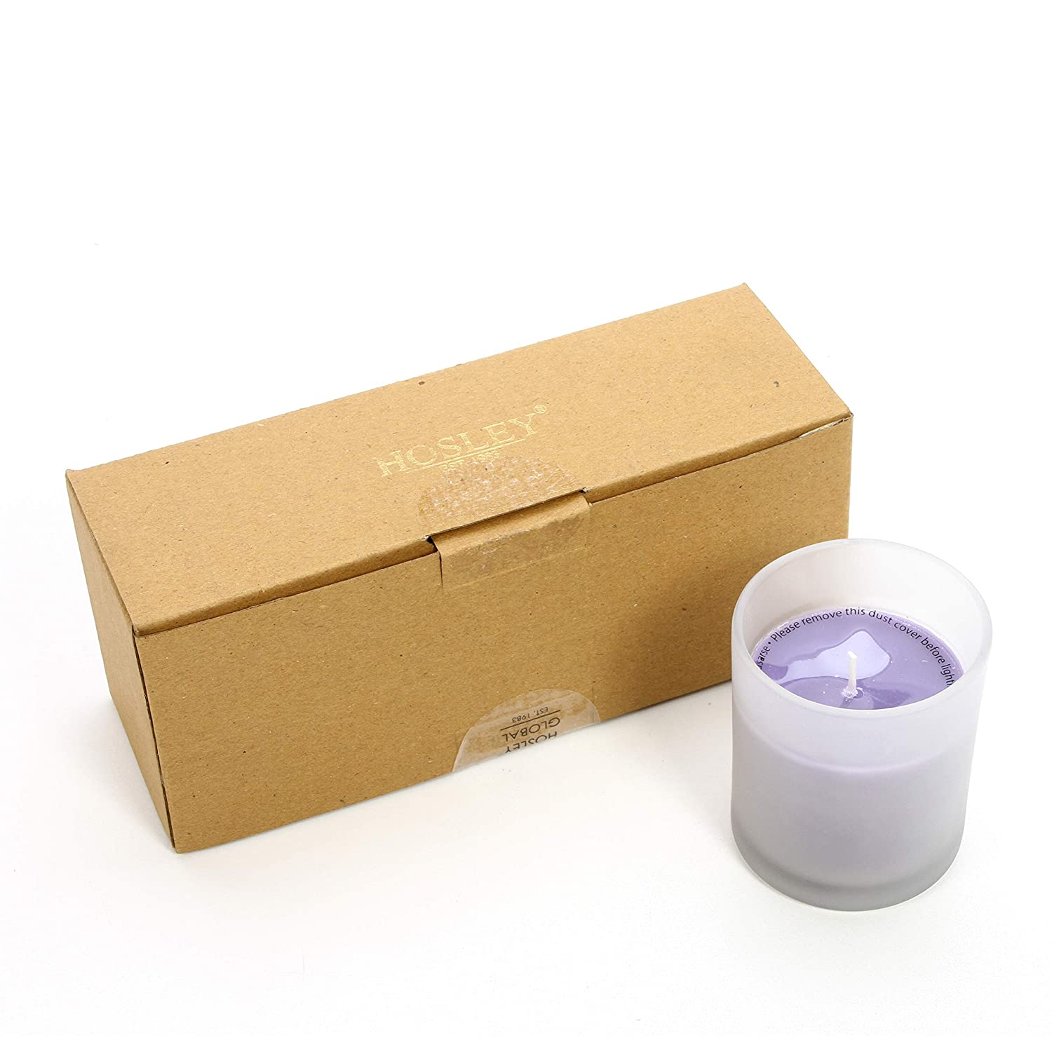 4 oz Each,up to 72 Hour Burn Gift for Wedding 3 High Lavender Scented Large Frosted White Glass Survival Wax Filled Votive Candles SPA Zen Party Reiki O3 3 High HG Global FBA-G45665ON-1-EA Hosley Aromatherapy Set of 3