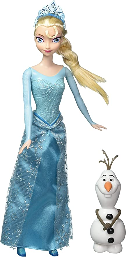 Amazon Com Disney Frozen Princess Elsa And Olaf Doll Gift Set