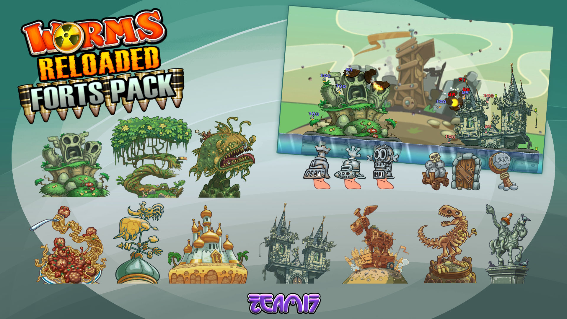Amazon.com: Worms Reloaded - Forts Pack [Online Game Code ...